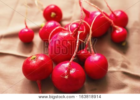 Ripe Radish On The Table, Wholesome Vegetables