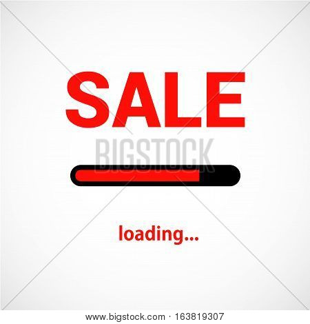 Sale is loading. Progress loading bar vector