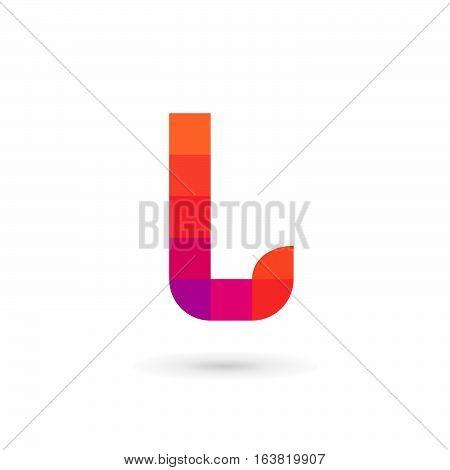 Letter L Mosaic Logo Icon Design Template Elements