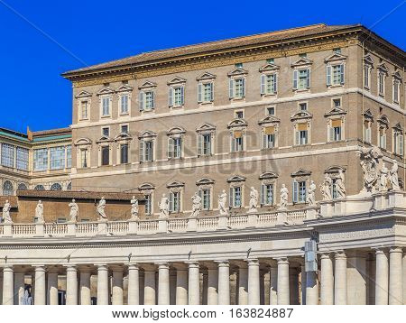 Palace Of The Popes, View From St. Peter's Square