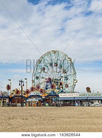 Wonder Wheel Is A Hundred And Fifty Foot Eccentric Wheel