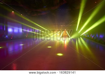 Ice Floor With Stage Lights For Ice Dancing