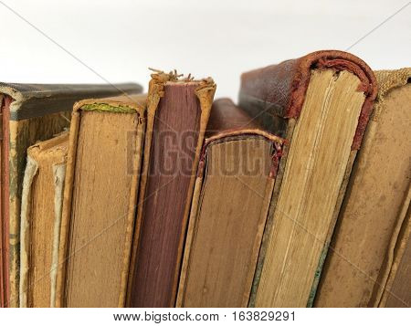 old books closeup - old books closeup