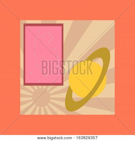 flat icon on stylish background education astronomy lesson