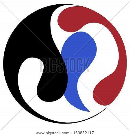 ying yang symbol of harmony and balance, vector design element