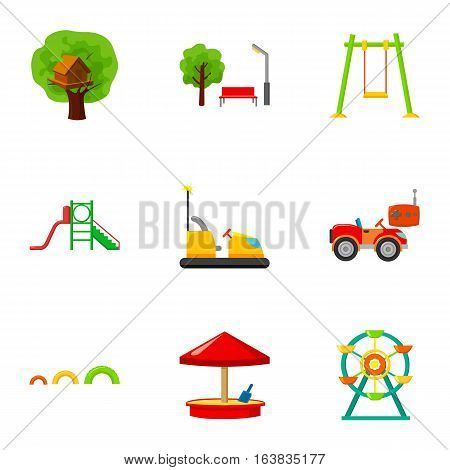 Play garden set icons in cartoon style. Big collection of play garden vector symbol stock
