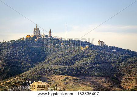 Tibidabo Hill In Barcelona, Spain