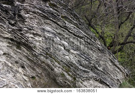 Of the texture of travertine Pyatigorsk stone background,Northern Caucasus,Russia.