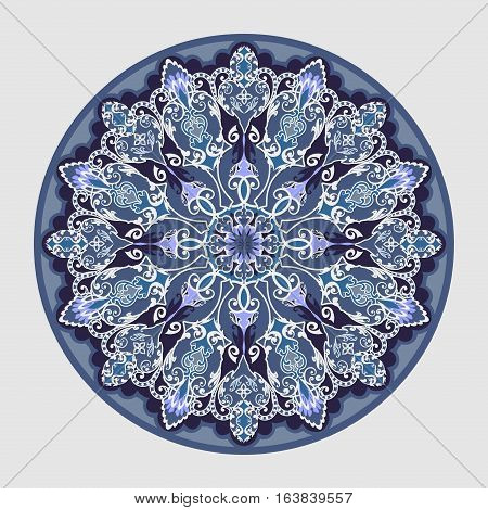 Decorative floral ornament in East style. Mandala.