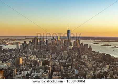 Skyline View Of New York