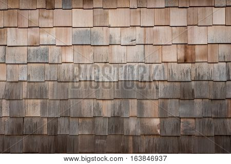 Weathered Wooden Siding Wide with natural brown shingles