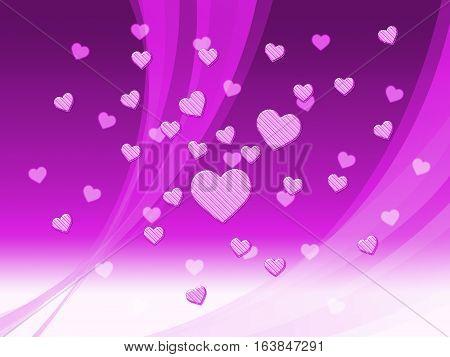 Elegant Mauve Hearts Background Means Delicate Passion Or Fine Wedding