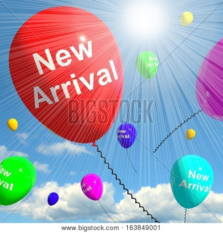 New Arrival Balloons In The Sky 3D Rendering