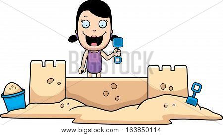 Girl Sandcastle