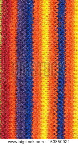 Multicolored Vertical Stripe Fabric Background - Vertical