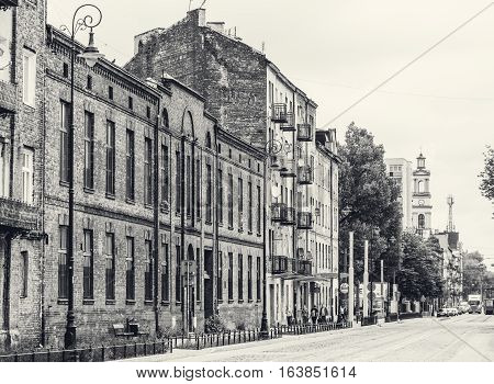 Cityscape of Warsaw, district Praga a Poland
