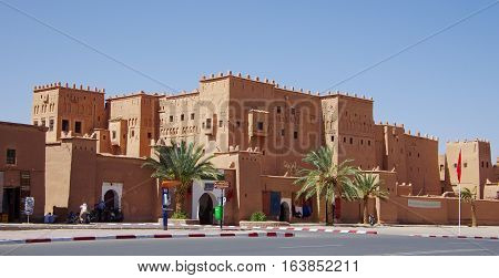 The Antique Casbah In The Center Of Ouarzazate