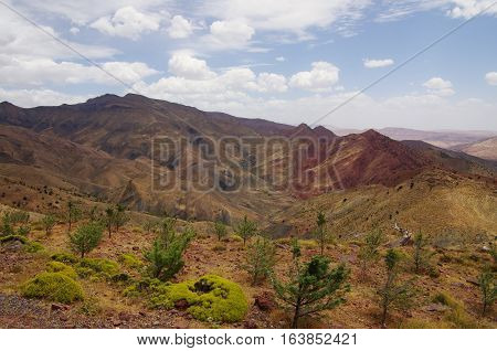 A Dry Valley In The Atlas Mountains, Morocco.