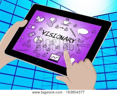 Visionary Icons Represents Insights Strategist 3D Illustration