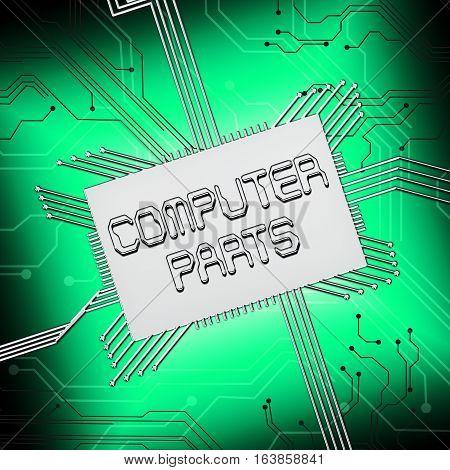 Computer Parts Shows Pc Components 3D Illustration