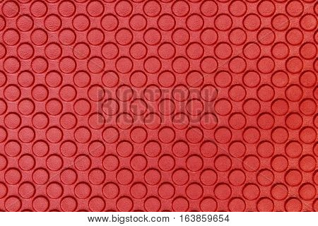 close up red Eva ethylene foam texture