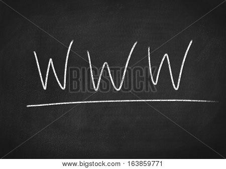 www concept word on blackboard chalkboard background
