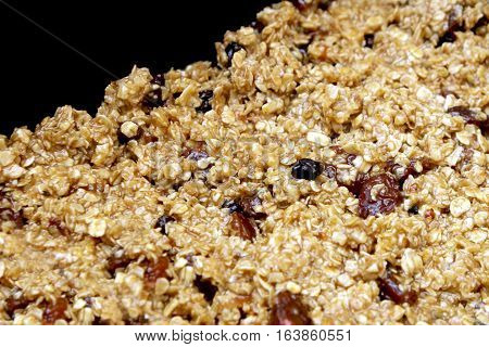 Fruit Flapjack Mix Ready To Bake In The Oven