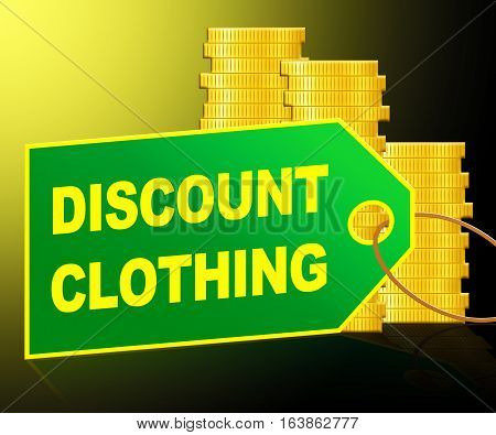 Discount Clothing Showing Cheap Clothes 3D Illustration
