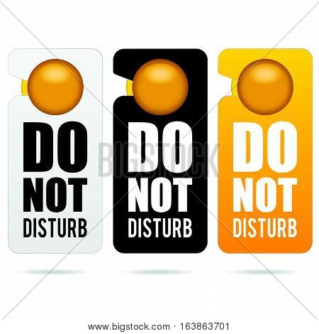 Do Not Disturb Design Illustration In Colorful