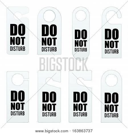 Do Not Disturb Door Tag Design Illustration In Colorful