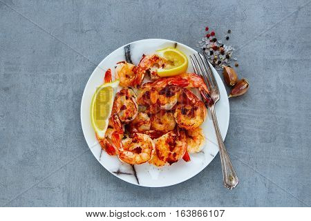 Seafood Dinner On Table