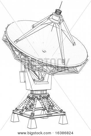 doppler radar: 3d technical draw poster