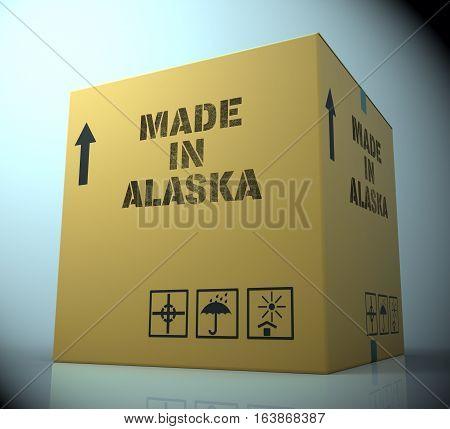 Made In Alaska Representing Alaskan Product 3D Rendering