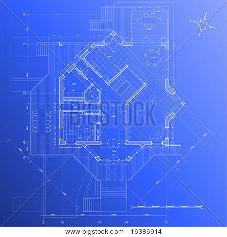 house plan: vector blueprint