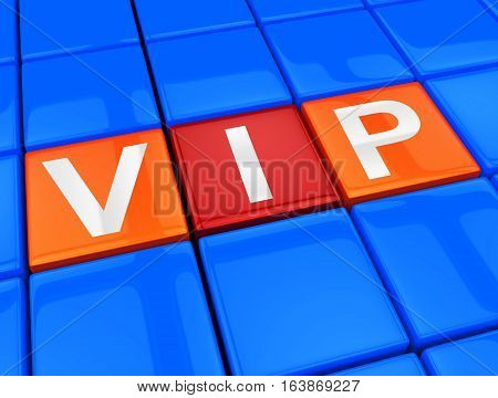 Vip Keys Show Influential Person 3D Illustration.