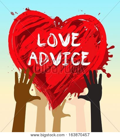 Love Advice Means Marriage Guidance 3D Illustration