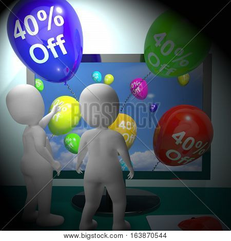 Sale Discount Of Forty Percent 3D Rendering