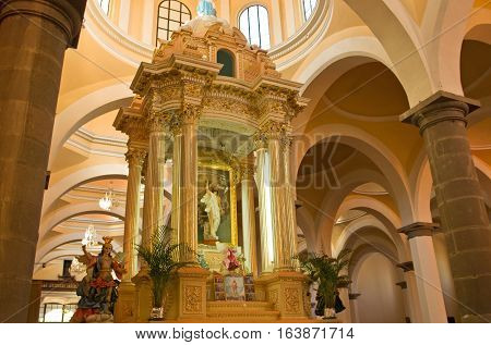 Royal Chapel In Cholula , Puebla, Mexico