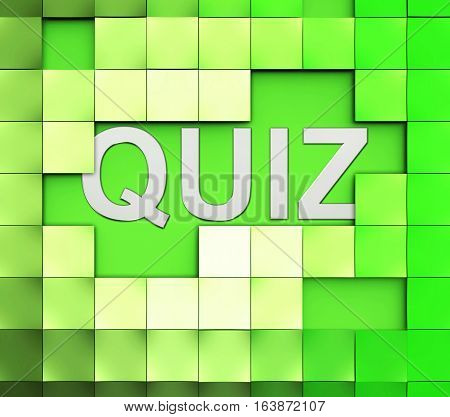 Quiz Word Means Test Questions Answers Or Questioning