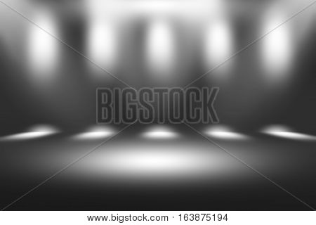 Grey gradient abstract background / gray room studio background / dark tone / for used background or wallpaper