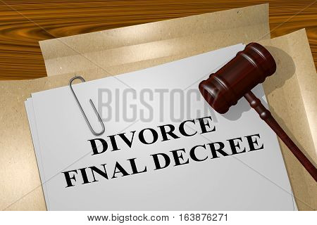 Divorce Final Decree - Legal Concept