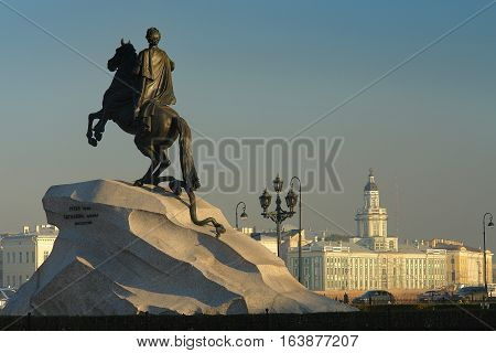 St. Petersburg Bronze Horseman monument to Peter the Great