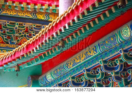 This a photo of Art of building in Chinese temple