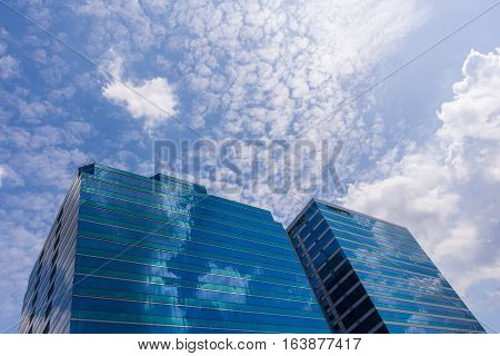 Glass Office Building With Blue Sky