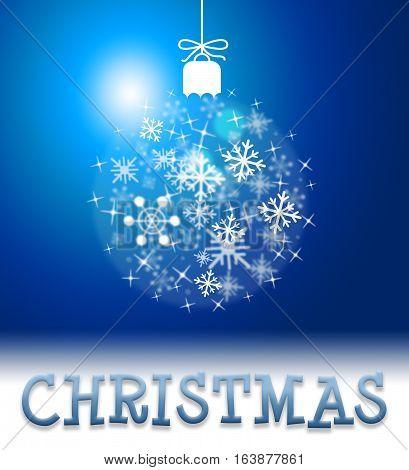 Christmas Decoration Means Happy Xmas Yuletide Greeting