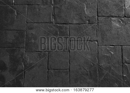 Background Pattern Grey Stone or Rock Floor Background or Texture.