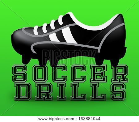 Soccer Drills Meaning Football Practise 3D Illustration