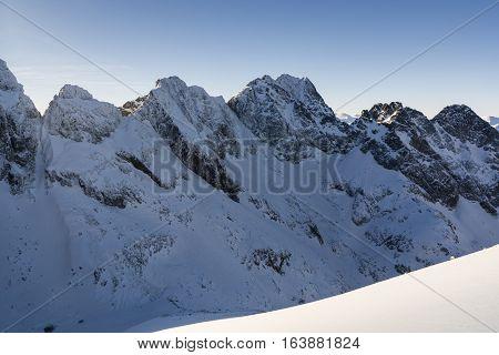 Winter Ridge In The Tatras.