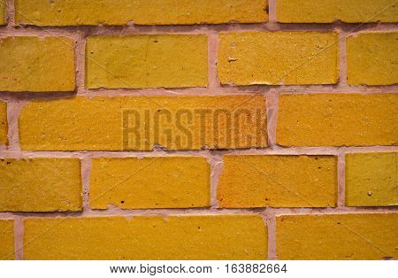 Orange brick texture usually used for background photo taken in Semarang Indonesia java