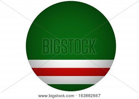 Chechen republic flag illustration symbol. Russia .